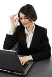 Businesswoman working on a laptop Royalty Free Stock Photo