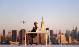 Businesswoman Working in New York City Stock Photography