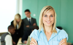 Businesswoman working in an office Royalty Free Stock Photo