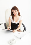 Businesswoman working at office Royalty Free Stock Photo