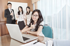 Businesswoman working in the office Stock Photography