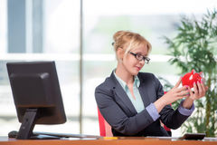 The businesswoman working in the office Stock Images