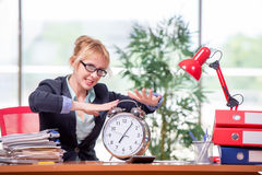 The businesswoman working in the office Stock Photography