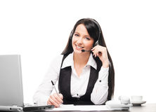 A businesswoman working in the office Royalty Free Stock Image