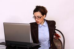 Businesswoman Working On Lap Top Computer Stock Photography