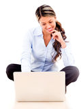Businesswoman working online Royalty Free Stock Image