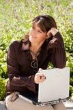 Businesswoman working outdoor Stock Photos