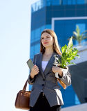 Businesswoman working outdoor Stock Image