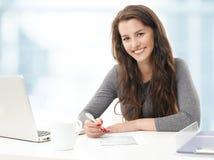 Businesswoman working Stock Image
