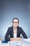 Businesswoman at workplace Stock Photography