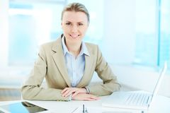 Businesswoman at workplace Royalty Free Stock Photography