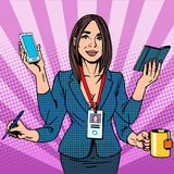 Businesswoman works hard Stock Photography