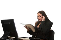 Businesswoman on the workspace Stock Image