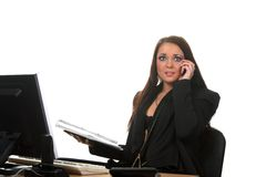 Businesswoman on the workspace Stock Photography