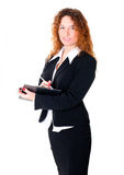Businesswoman write something. Stock Photography