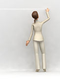 Businesswoman writes on the wall Royalty Free Stock Photography