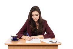 Businesswoman writing Royalty Free Stock Photography