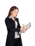 Businesswoman writing Stock Photos