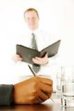 Businesswoman Writing Stock Photography