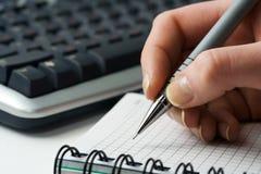 businesswoman writing Стоковое Изображение