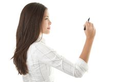 Businesswoman writing on copy space Royalty Free Stock Photo