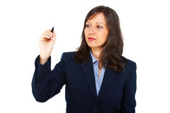 Businesswoman writing Royalty Free Stock Photos