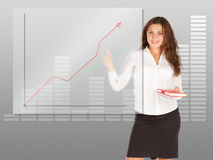 Businesswoman writing leadership Stock Photography