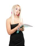 Businesswoman writing on a notebook Royalty Free Stock Image