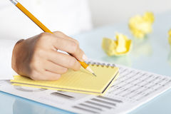 Businesswoman Writing Notes Royalty Free Stock Photography