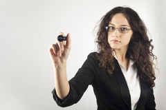 Businesswoman writing Stock Images