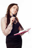Businesswoman writing something down Stock Photography