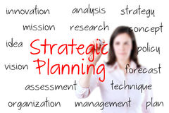 Businesswoman writing strategic planning concept Royalty Free Stock Photography