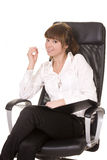 Businesswoman writting Royalty Free Stock Image