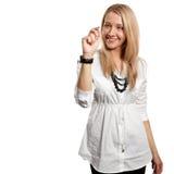 Businesswoman writting something Stock Photo