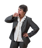 Businesswoman yawning Royalty Free Stock Photos