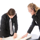 Businesswoman And Young Colleague Stock Image