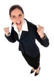 businesswoman zaciśnij pięści Fotografia Stock
