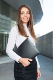 businesswoman zewnętrznego Obrazy Royalty Free