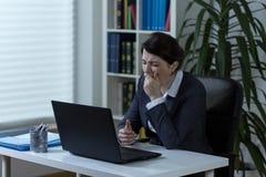 businesswoman zmęczony Obrazy Stock