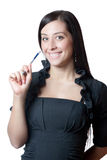 Businesswomanl holding a marker Stock Photography