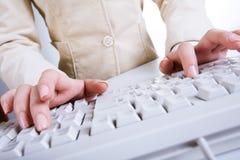 Businesswoman�s hands Stock Photo
