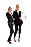 businesswomans två Arkivfoto