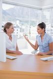 Businesswomen arguing in the office Stock Image