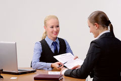 Businesswomen At Office Stock Image