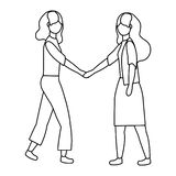 Businesswomen avatar cartoon design vector illustration. Businesswomen design, Woman business management corporate job occupation and worker theme Vector royalty free illustration