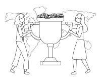 Businesswomen avatar cartoon design vector illustration. Businesswomen design, Woman business management corporate job occupation and worker theme Vector vector illustration