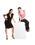 Businesswomen and billboard Stock Photos