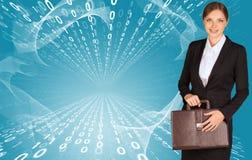 Businesswomen with briefcase Stock Photos