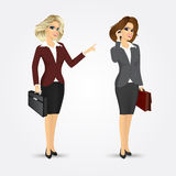 Businesswomen with briefcases Stock Images