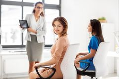 Businesswomen at business meeting in office Royalty Free Stock Photo